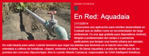 Aquadaia en Más Que Palabras de Radio Euskadi